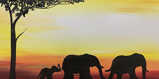 Paint Night at the Coachman - Elephants at Sunset