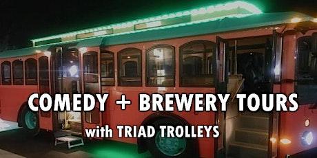 Comedy & BrewPub Trolley Adventure tickets