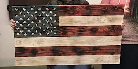 Create your own wooden flag display