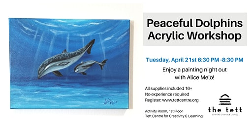 Peaceful Dolphins Acrylic Painting Workshop