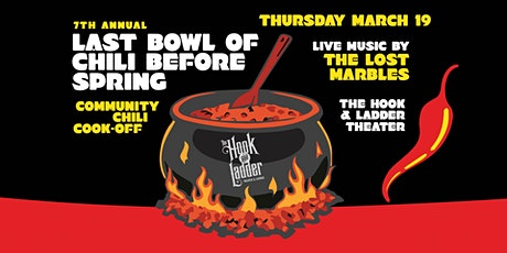 Last Bowl of Chili Before Spring - Community Chili Cook-Off tickets