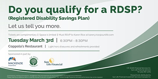 Do you Qualify for a RDSP? (Registered Disability Savings Plan)