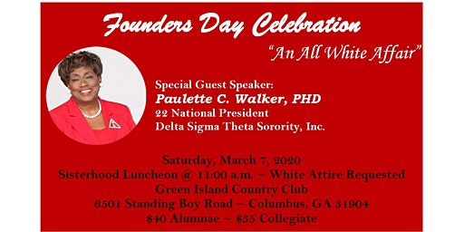 Columbus GA Alumnae & Theta Phi Founders Day Celebration 2020