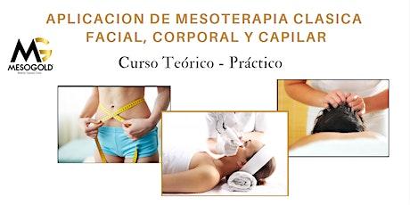 Taller Teorico - Practico Mesoterapia Clasica Facial, Corporal y Capilar entradas