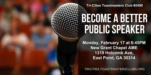 Improve Your Public Speaking with Toastmasters (OPEN-HOUSE Meeting)