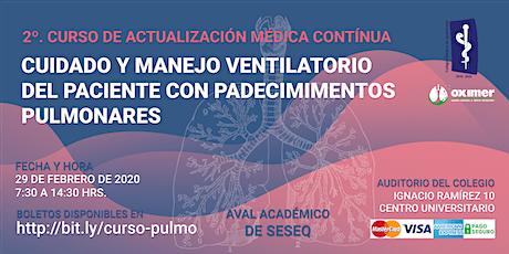 Cuidado y Manejo Ventilatorio del Paciente con Padecimientos Pulmonares boletos