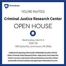 Open House - Criminal Justice Research Center  tickets
