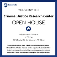 Open House - Criminal Justice Research Center