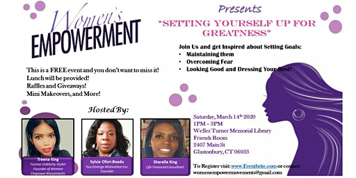 """Women's Empowerment """"Setting Yourself Up for Greatness"""""""