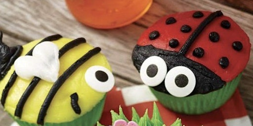 Bumble bee and lady bug cupcake decorating