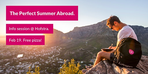 The Perfect Summer Abroad – Info Session at Hofstra. Free Pizza!