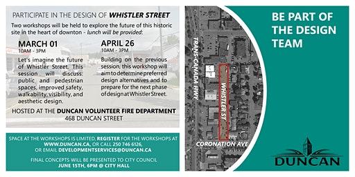 Public Engagement Workshop: Whistler Street