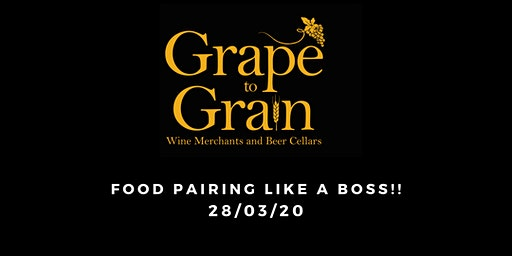 Food Pairing Like a BOSS!!  (Grape to Grain Ramsbottom)