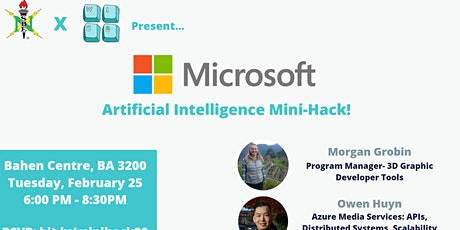 MicrosoftxNSBExWiCS: Artificial Intelligence Mini-Hack! tickets