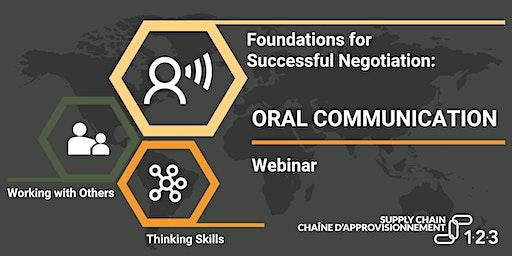 Oral Communications - Webinar