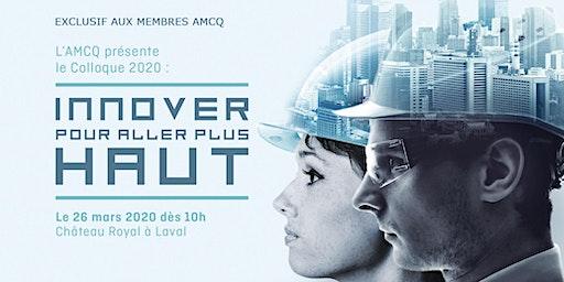 Colloque 2020 AMCQ - Innover pour aller plus haut