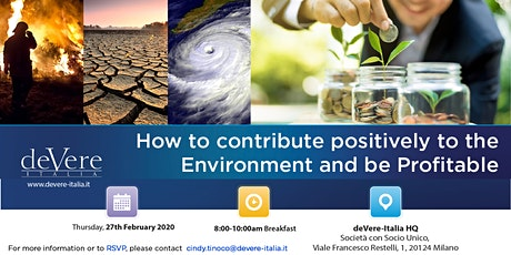 How to contribute positively to the Environment and be Profitable tickets