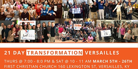 March 21 Day Transformation - Versailles tickets