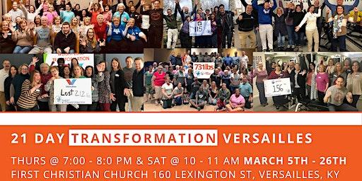 March 21 Day Transformation - Versailles