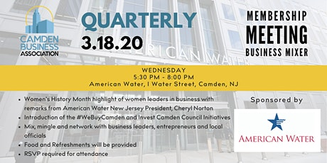 CBA 2020 Quarterly Membership Meeting & Networking Mixer @ American Water tickets