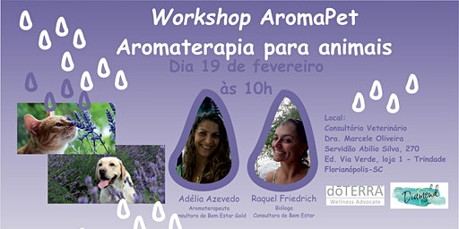 Workshop AROMAPET  Aromaterapia para pet's