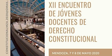 XII ENCUENTRO DE JÓVENES DOCENTES DE DERECHO CONSTITUCIONAL entradas