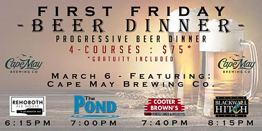 First Friday Beer Dinner - Cape May Brewing