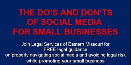 THE DO'S AND DON'TS OF SOCIAL MEDIA  FOR SMALL BUSINESSES tickets