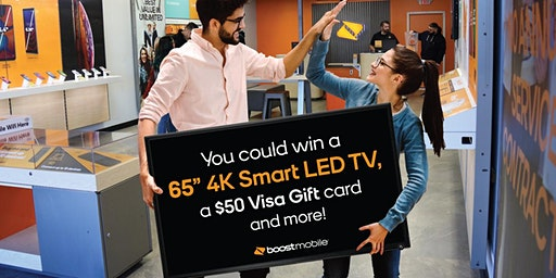 """Win a 65"""" Smart TV Plus other prizes!"""