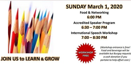 District 27 Burgay Toastmasters Continuing Education Workshop tickets
