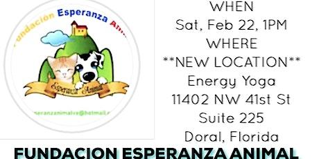 Yoga Four Paws to benefit Fundacion Esperanza Animal! tickets