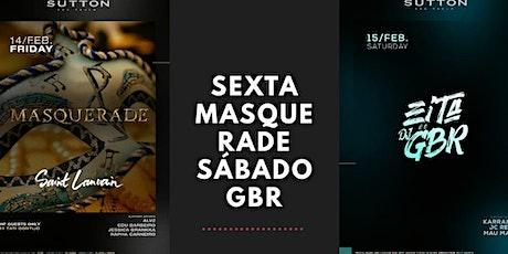 Masquerade e Dj GBR ingressos