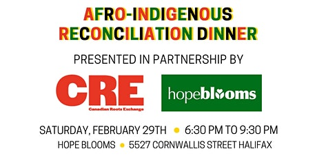 Afro-Indigenous Youth Reconciliation Dinner tickets