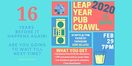 It won't happen for another 16 years! | Leap Year Pub Crawl YYJ tickets