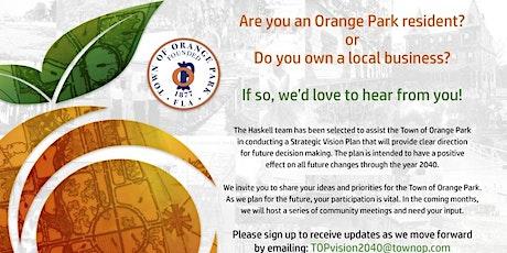 Town of Orange Park #TOPVision2040 Walk Shop 2 Wednesday Urban Bean tickets