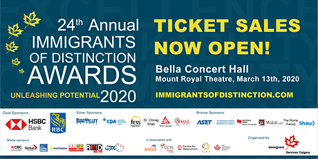 2020 Immigrants of Distinction Awards tickets