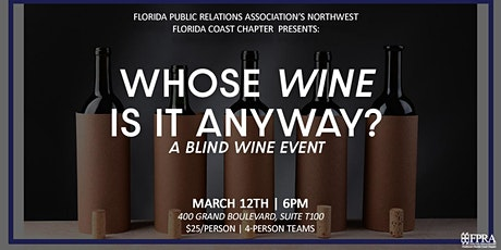 Whose Wine Is It Anyway? A blind wine event! tickets