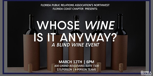 Whose Wine Is It Anyway? A blind wine event!