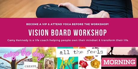 Vision Board Workshop & Yoga at Prima Elements tickets