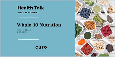 Whole 30 Nutrition Health Talk tickets