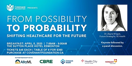From Possibility to Probability - Shifting Healthcare for the Future tickets