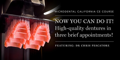 Now you can do it! High-quality dentures in three brief appointments! tickets