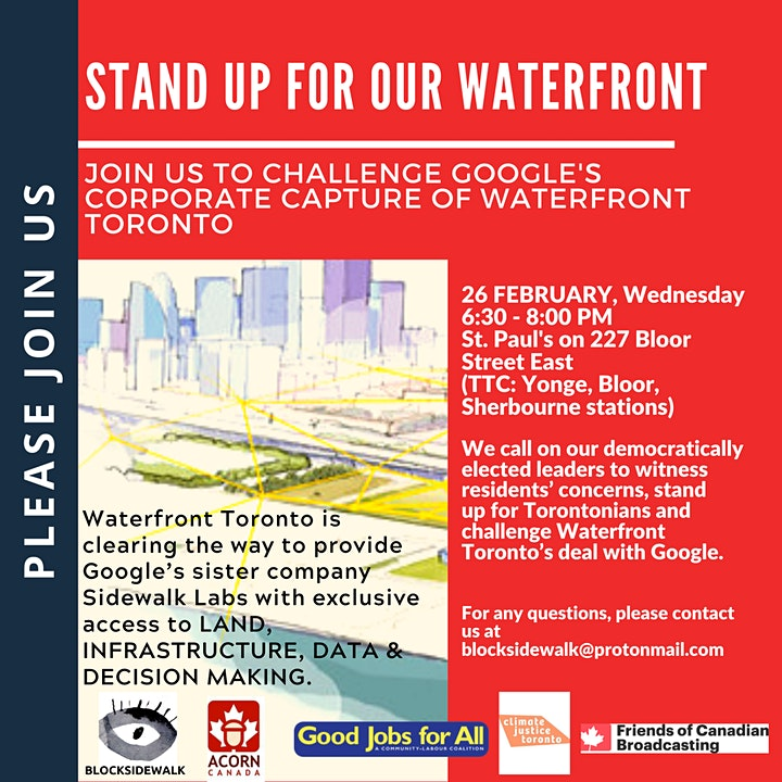 Stand up for our waterfront! End Google's corporate capture. image