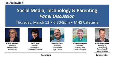 Social Media, Tech & Parenting Panel Discussion 6:30-8pm March 12 @ MHS tickets