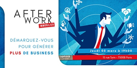 Afterwork Immobilier - 5 Mars - Paris 8 billets