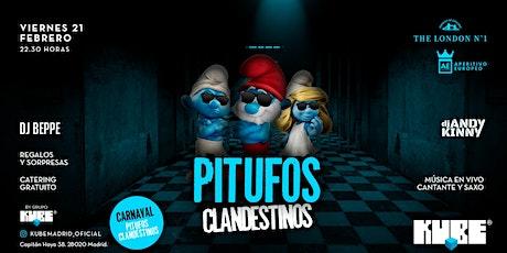 Carnival Party -Pitufos Calendestinos @KUBE con entrada  y catering gratuito entradas