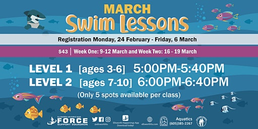 Ellsworth AFB Swim Lessons March