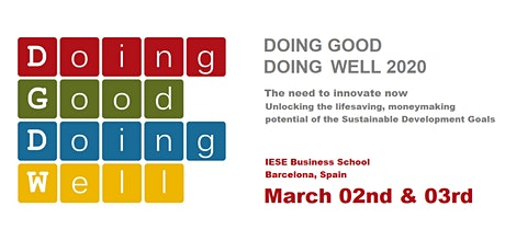 IESE Doing Good Doing Well Conference 2020 entradas