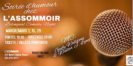 Soirée d'humour chez l'Assommoir - Bilingual Comedy Night billets