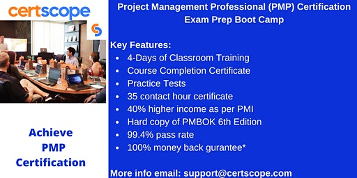 Project Management Professional (PMP) Certification  Boot Camp in Auburn